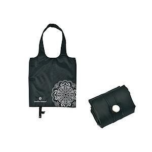 VS BATNA skládací nákup. taška, polyester, černá