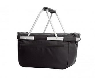 BÁRNY Chladící nákupní košík na zip s termo úpravou, černá