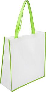 PARIOLA Nákupní taška z netkané textilie, bílá s oranžovým lemem