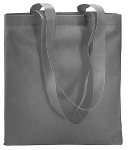 Nákupní taška z netkané textilie 80 g/m2, šedá