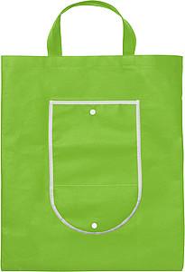 KOMPO Skládací nákupní taška, světle zelená papírová taška s potiskem