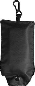 Skládací nákupní taška s klipem, černá