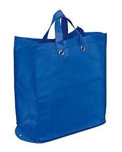 Velká skládací nákupní taška z netkané textilie, modrá