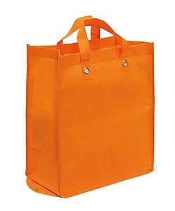 Velká skládací nákupní taška z netkané textilie, oranžová
