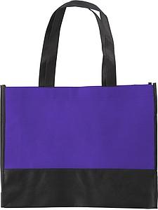 ARMOR Nákupní taška z netkané textilie s černým dnem, fialová