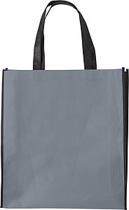 ASUKA Nákupní taška z netkané textilie s černými boky, šedá