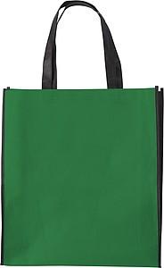 ASUKA Nákupní taška z netkané textilie s černými boky, zelená