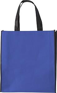 ASUKA Nákupní taška z netkané textilie s černými boky, modrá