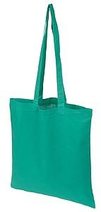 Bavlněná nákupní taška s dlouhými uchy, tmavě zelená
