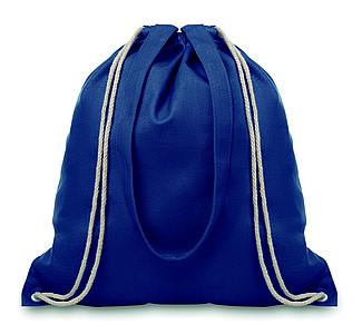 Plátěná nákupní taška s dlouhými uchy, modrá