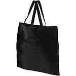 Skládaná netkaná taška, černá