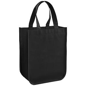 Malá laminovaná nákupní taška Acolla, černá