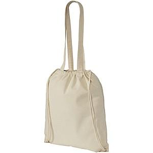 Bavlněná taška 2v1 se stahovací šňůrkou, béžová