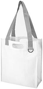 Netkaná taška, bílá