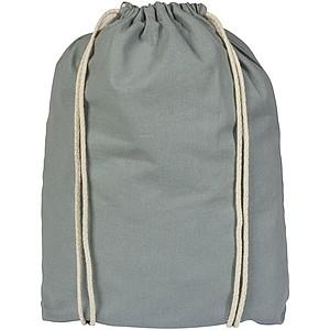 Bavlněný batůžek se šňůrkami, šedá
