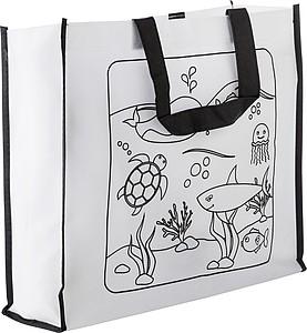 RESORTA Netkaná nákupní taška s obrázkem na vybarvení - reklamní kancelářské potřeby