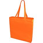 Bílá bavlněná taška s barevnými uchy, fialová