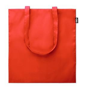 Ekologická nákupní taška s dlouhými uchy, z recyklovaných PET lahví, oranžová