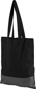 Bavlněná taška se stříbrnými konturami, černá