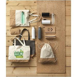 Bavlněná taška s korkovým dnem, antracitová