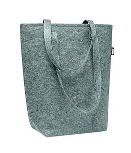 Plstěná nákupní taška z RPET, šedá