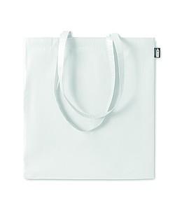 Nákupní taška z RPET s dlouhými uchy, bílá