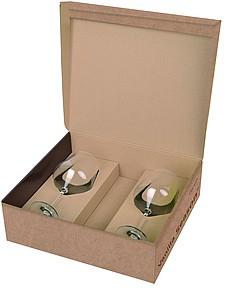 VS PAPUA Sada na červené víno, krabice s prostorem pro láhev + 2 sklenice