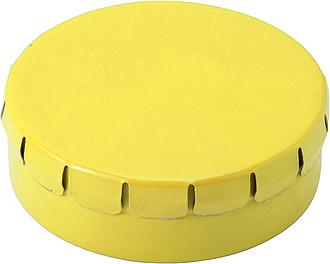 KAPSÍK Krabička s mintovými bonbony, žlutá