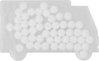MINTVAN Mint karta ve tvaru dodávky s bonbony, bílá