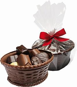 Čokoládový košíček s pralinkami