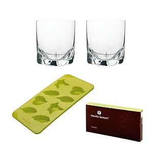 VS TULUFAN ICE SET Sada silikonové formy a 2 skleniček, zelená - reklamní hrnky
