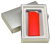 ROGO Zapalovač v dárkové krabičce, červený, stříbrný