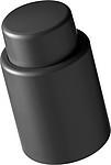 Plastová zátka na víno, černá