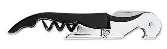 Číšnický nožík z nerezové oceli, černá