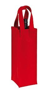 Plstěná taška na láhev vína, červená