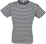 STRIPY Men Pánské námořnické tričko, bílá, černá XXL