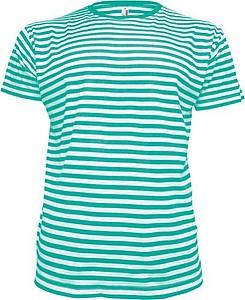 STRIPY Men Pánské námořnické tričko, barva bílá, zelená XL