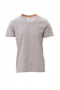 Tričko PAYPER V NECK šedý melír S