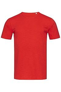 Tričko STEDMAN STARS SHAWN CREW NECK červená XXL - reklamní trička