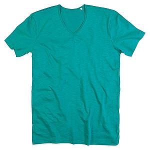 Tričko STEDMAN STARS SHAWN V-NECK bahama zelená L