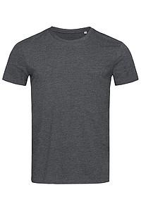 Tričko STEDMAN STARS LUKE CREW NECK černý melír XL