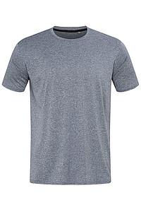 Pánské tričko STEDMAN RECYCLED SPORTS-T MOVE MEN, modrý melír, L - reklamní bundy