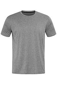 Pánské tričko STEDMAN RECYCLED SPORTS-T MOVE MEN, šedý melír, L - reklamní trička