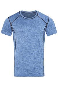 Pánské tričko STEDMAN RECYCLED SPORTS -T REFLECT MEN, modrý melír, L - reklamní trička