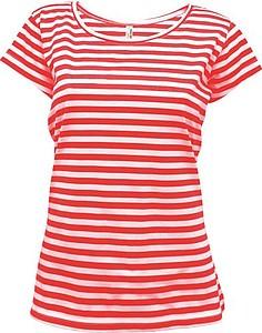 STRIPY Women Dámské námořnické tričko, bílá, červená L