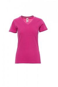 Tričko dámské PAYPER V-NECK růžová S - reklamní trička