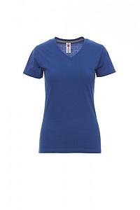 Tričko dámské PAYPER V-NECK královská modrá S - reklamní trička