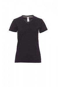 Tričko dámské PAYPER V-NECK černá M - reklamní čepice