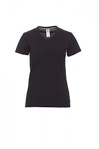 Tričko dámské PAYPER V-NECK černá L - reklamní trička