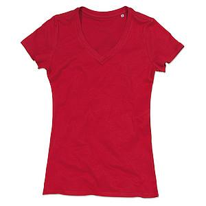 Tričko STEDMAN STARS JANET V-NECK červená L